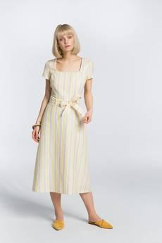 Zoee - Sukienka lniana letnia Lato