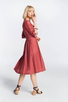 Zoee - Sukienka lniana letnia Lady in Red