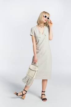 Zoee - Sukienka  lniana Tenisowa