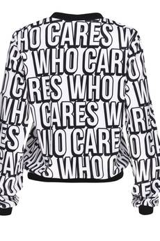 Who Cares - Baseball Jacket Who Cares