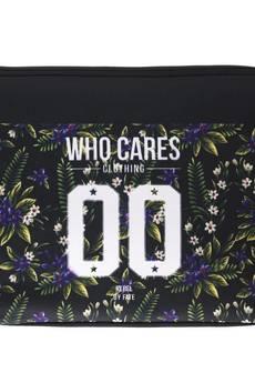 """Who Cares - Laptop Case 15"""" Violet Flower"""
