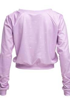 Who Cares - Sweatshirt Crop Pink Milky Way