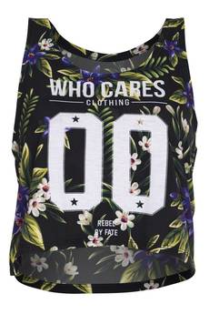 Who Cares - Summer Top Violet Flowers