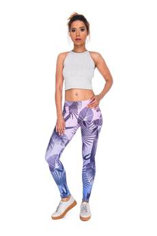 Who Cares - Leggings Grey Leafs