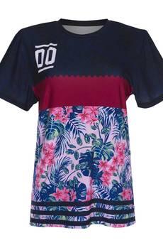 Who Cares - T-shirt Fuchsia Flower