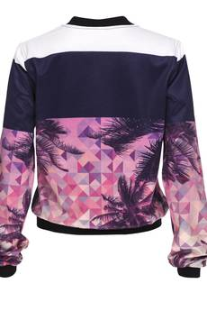 Who Cares - Baseball Jacket Palm Sunset