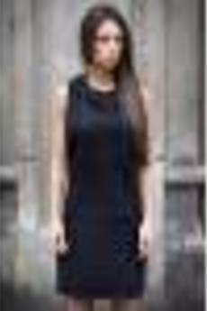 "UNICUT - Sukienka ""Black Hoodie"" - Bohater x Paula Tomczyk"