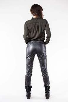 Soleil - Spodnie z eko skóry podwyższonym stanem SL4008