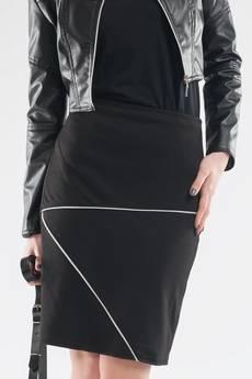 Soleil - Spódnica z dzianiny z zamkami SL6077