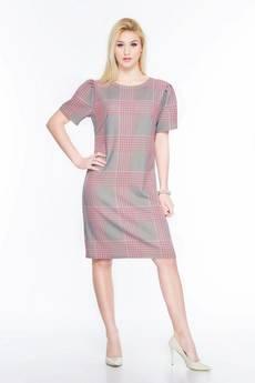 Soleil - Luźna sukienka w kratkę SL2168