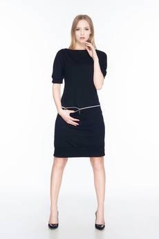 Soleil - Sukienka z dresówki z poziomym zamkiem SL2163B