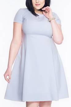 Soleil - Rozkloszowana sukienka midi SL2170G SIZE PLUS