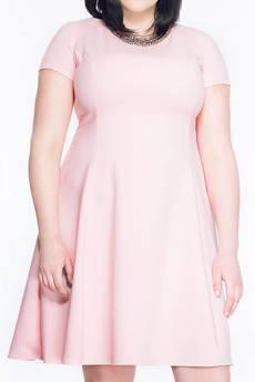Soleil - Rozkloszowana sukienka midi SL2170P SIZE PLUS