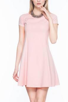 Soleil - Rozkloszowana sukienka mini SL2165P SIZE PLUS