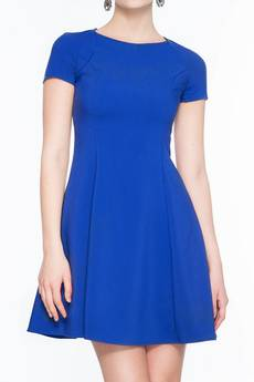 Soleil - Rozkloszowana sukienka mini SL2165BL SIZE PLUS
