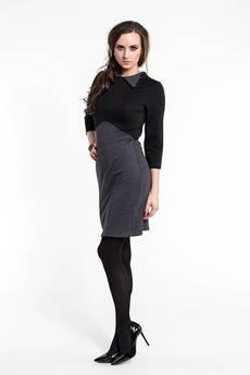 Soleil - Elegancka sukienka z  kołnierzykiem SL2160