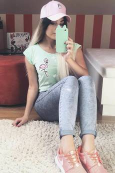 ŁAP NAS - Koszulka Palms and Flamingo