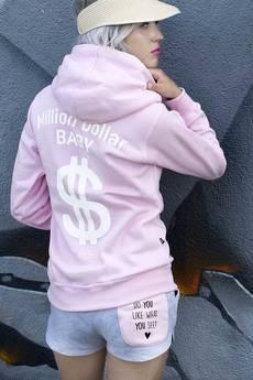 ŁAP NAS - Bluza Milion dollar Baby white print !