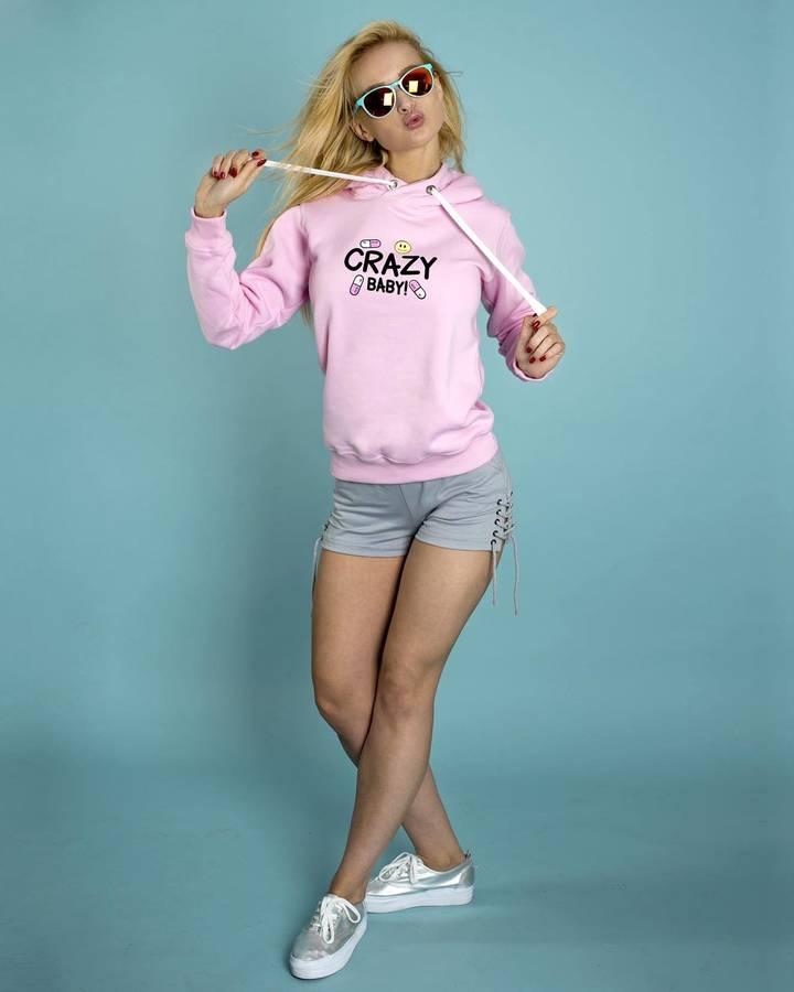 6eb7225ec1 Bluza Crazy Baby Róż! - Różowy