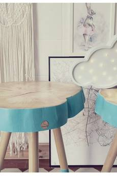 Studio Minimal - Stolik drewniany Skyblue