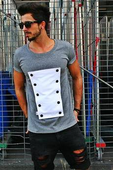 Button - T-SHIRT BUTTONS TEE UNISEX kolory