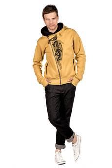 Slogan ubrania ekologiczne, etyczne i wegańskie - The eye honey rozpinana bluza męska  z bawełny organicznej