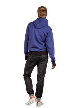 Slogan ubrania ekologiczne, etyczne i wegańskie - The bassman męska z kapturem bluza  bawelna organiczna