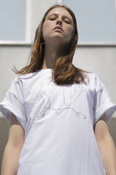 REST_FActory - NO SHAME WHITE T-SHIRT
