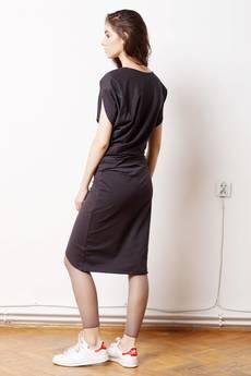 60e19cd629 ... CADOaccessories - Wygodna Dzianinowa Sukienka Dresowa Grafit ...