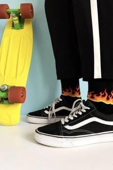 4LCK - Skarpety w płomienie, ogień, Fire