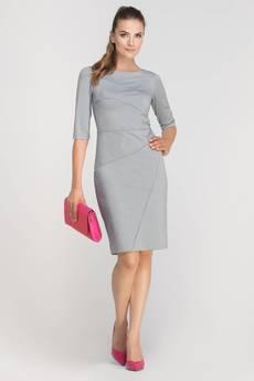 Dopasowana sukienka z przeszyciami suk146