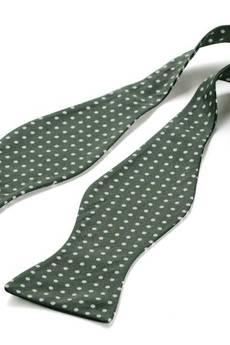 HisOutfit - Komplet Mucha wiązana REUS zielony +poszetka
