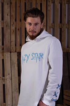 KingSize - Lazy Star White Sweatshirt