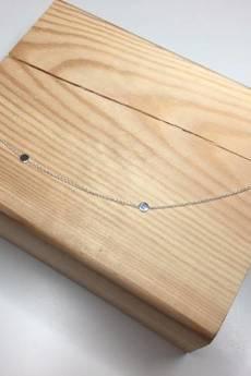 ATdiament - Srebrny pozłacany naszyjnik minimalistyczny koła