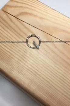 ATdiament - Srebrna bransoletka koło z cyrkoniami