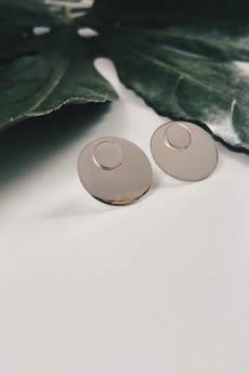 ATdiament - Srebrne kolczyki koła z podkładkami małe