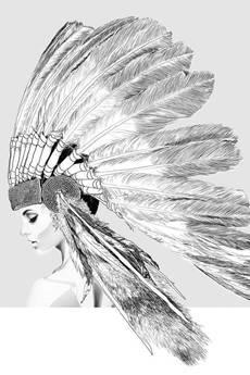 ONWALL - MURAL INDIAN GIRL 200cm x 200cm