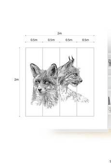ONWALL - MURAL FOX LYNX 200cm x 200cm
