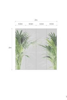 ONWALL - MURAL PALM 200cm x 200cm