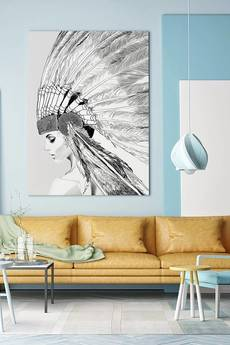 ONWALL - OBRAZ INDIAN GIRL 100cm x 150cm