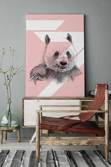 ONWALL - OBRAZ PANDA COLOR BLUSH 70cm x 100cm