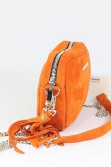 FABIOLA - Zamszowa Fabioletka pomarańczowa