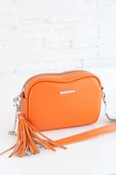 FABIOLA - Skórzana Fabioletka pomarańczowy