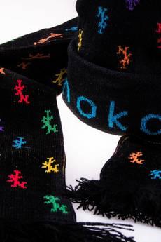 Nokaut Costume - Komplet czapka i szalik czarny