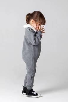 CZACHOR - Kombinezon dziecięcy a'la ramoneska ciemny melanż