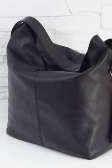 FABIOLA - Skórzana Shopper boho black classic