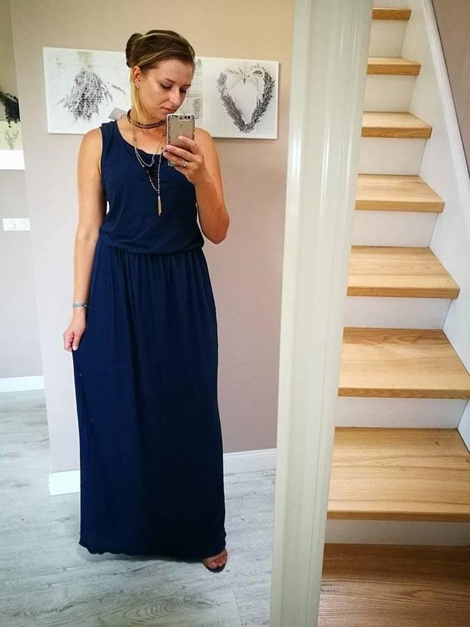 Sukienka Rarity | Letnia Maxi Granatowa Granatowy