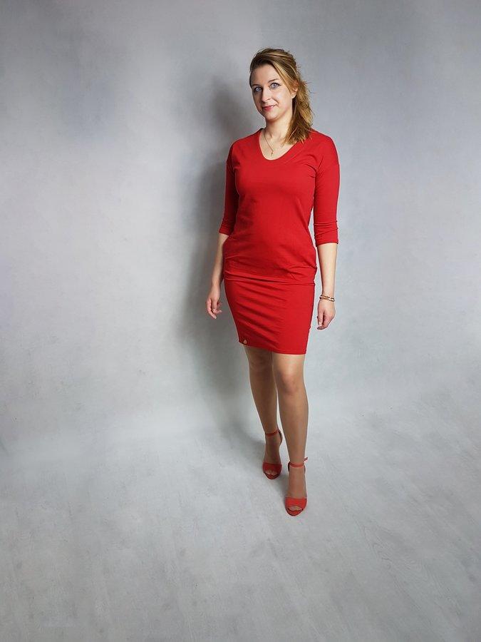 501a7e817b Sukienki Proste Sukienki z Dekoltem Sukienki Dzianinowe Sukienki Bawełniane Sukienki  Dresowe