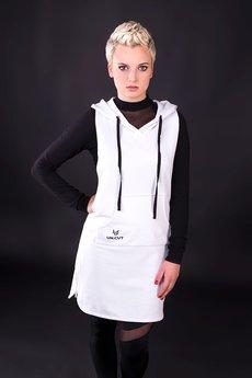 "UNICUT - Sukienka ""White Hoodie"" - Bohater x Paula Tomczyk"
