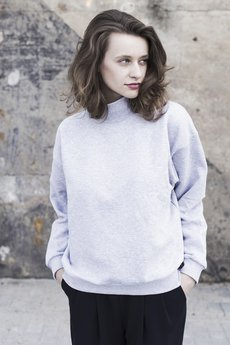 The Hive - OVERSIZED TURTLENECK IN COOL GREY